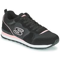 kengät Naiset Matalavartiset tennarit Skechers OG 85 Musta / Vaaleanpunainen