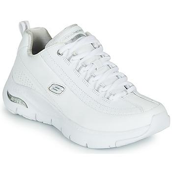 kengät Naiset Matalavartiset tennarit Skechers ARCH FIT Valkoinen