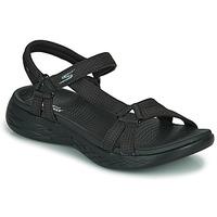 kengät Naiset Urheilusandaalit Skechers ON THE GO 600 Musta