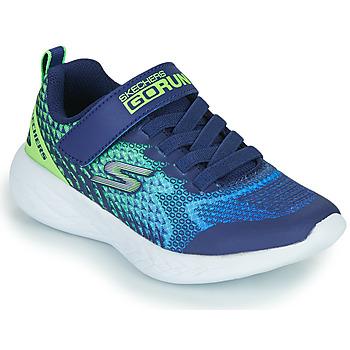 kengät Pojat Matalavartiset tennarit Skechers GO RUN 600 Blue / Green