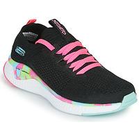 kengät Tytöt Matalavartiset tennarit Skechers SOLAR FUSE Musta / Vaaleanpunainen