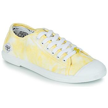 kengät Naiset Matalavartiset tennarit Le Temps des Cerises BASIC 02 Keltainen