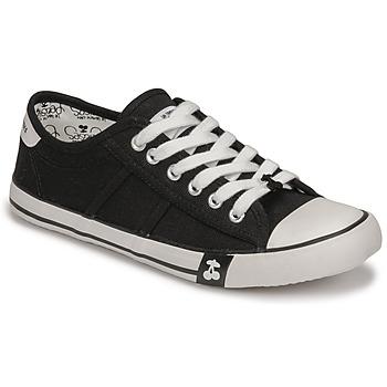 kengät Naiset Matalavartiset tennarit Le Temps des Cerises EASY Musta