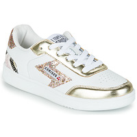 kengät Naiset Matalavartiset tennarit Le Temps des Cerises FLASH Valkoinen / Kulta