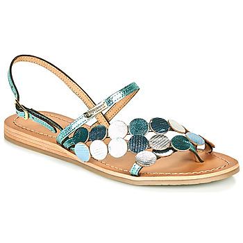kengät Naiset Sandaalit ja avokkaat Les Tropéziennes par M Belarbi HOLO Hopea / Sininen