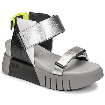 kengät Naiset Sandaalit ja avokkaat United nude DELTA RUN Musta / Hopea