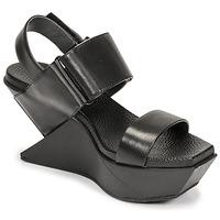 kengät Naiset Sandaalit ja avokkaat United nude DELTA WEDGE Musta