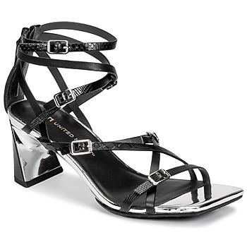 kengät Naiset Sandaalit ja avokkaat United nude MOLTEN STRAPPY MID Musta