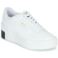 kengät Naiset Matalavartiset tennarit Puma CALI WEDGE Valkoinen / Musta