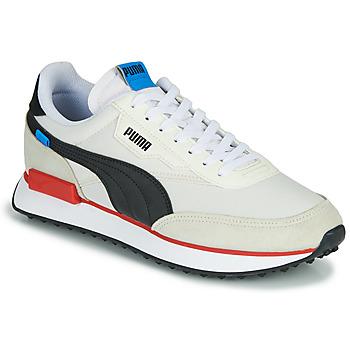 kengät Miehet Matalavartiset tennarit Puma FUTURE RIDER PLAY ON Valkoinen / Musta / Punainen