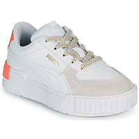kengät Tytöt Matalavartiset tennarit Puma CALI SPORT PS White / Pink