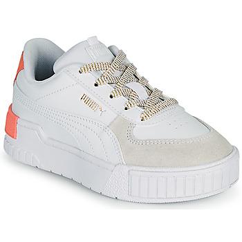 kengät Tytöt Matalavartiset tennarit Puma CALI SPORT PS Valkoinen / Vaaleanpunainen