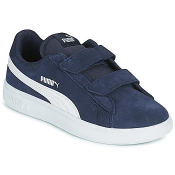 kengät Lapset Matalavartiset tennarit Puma SMASH PS Sininen