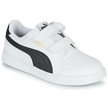 kengät Lapset Matalavartiset tennarit Puma SHUFFLE PS Valkoinen / Musta