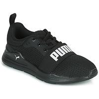 kengät Lapset Matalavartiset tennarit Puma WIRED PS Black