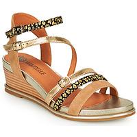 kengät Naiset Sandaalit ja avokkaat Mam'Zelle NAGA Beige / Oranssi