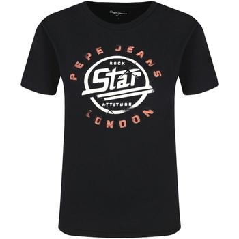 vaatteet Naiset Lyhythihainen t-paita Pepe jeans PL504273 Musta