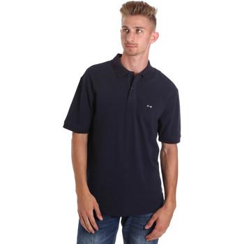 vaatteet Miehet Lyhythihainen poolopaita Les Copains 9U9015 Sininen