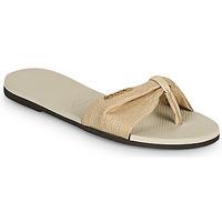 kengät Naiset Varvassandaalit Havaianas YOU ST TROPEZ SHINE Beige