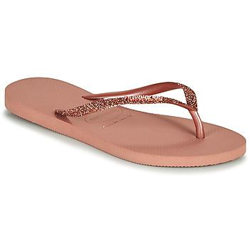 kengät Naiset Varvassandaalit Havaianas SLIM GLITTER II Vaaleanpunainen