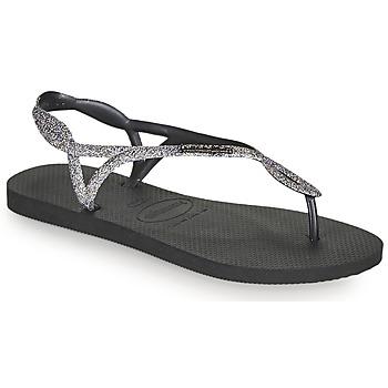 kengät Naiset Varvassandaalit Havaianas LUNA PREMIUM II Musta / Harmaa