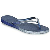 kengät Naiset Varvassandaalit Havaianas SLIM SPARKLE II Laivastonsininen