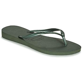 kengät Naiset Varvassandaalit Havaianas SLIM Green