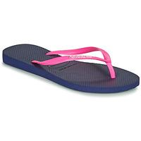 kengät Naiset Varvassandaalit Havaianas SLIM LOGO Laivastonsininen