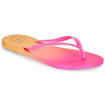 kengät Naiset Varvassandaalit Havaianas SLIM GRADIENT Vaaleanpunainen / Keltainen