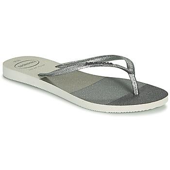 kengät Naiset Varvassandaalit Havaianas SLIM PALETTE GLOW Valkoinen