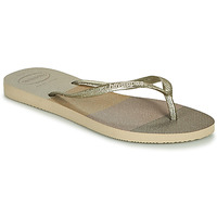 kengät Naiset Varvassandaalit Havaianas SLIM PALETTE GLOW Beige