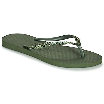 kengät Naiset Varvassandaalit Havaianas SLIM GLITTER II Green