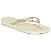 kengät Naiset Varvassandaalit Havaianas SLIM GLITTER II Beige