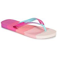 kengät Naiset Varvassandaalit Havaianas TOP LOGOMANIA MULTICOLOR Vaaleanpunainen