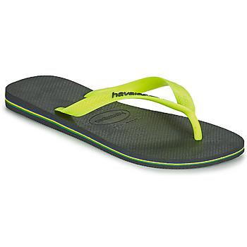 kengät Miehet Varvassandaalit Havaianas BRASIL LOGO Harmaa