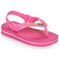 kengät Tytöt Varvassandaalit Havaianas BABY BRASIL LOGO II Vaaleanpunainen