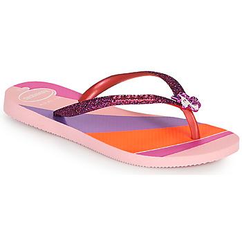 kengät Tytöt Varvassandaalit Havaianas KIDS SLIM GLITTER II Vaaleanpunainen