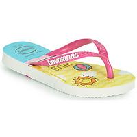 kengät Tytöt Varvassandaalit Havaianas KIDS SLIM HELLO KITTY Valkoinen