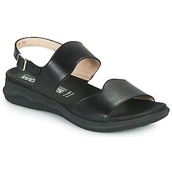 kengät Naiset Sandaalit ja avokkaat Wonders PER Musta
