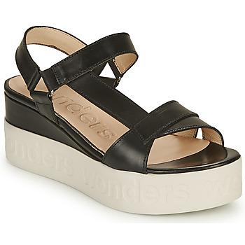 kengät Naiset Sandaalit ja avokkaat Wonders PESTEL Musta
