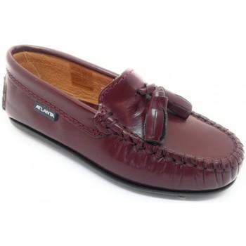 kengät Lapset Mokkasiinit Atlanta 24268-18 Viininpunainen