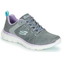 kengät Naiset Matalavartiset tennarit Skechers FLEX APPEAL 4.0 Harmaa / Vaaleanpunainen