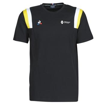 vaatteet Miehet Lyhythihainen t-paita Le Coq Sportif RENAULT FANWEAR 20 Tee SS M Musta