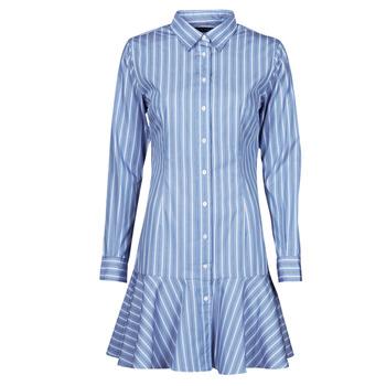 vaatteet Naiset Lyhyt mekko Lauren Ralph Lauren TRIELLA Sininen / Valkoinen