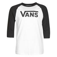vaatteet Miehet T-paidat pitkillä hihoilla Vans VANS CLASSIC RAGLAN Valkoinen  / Musta
