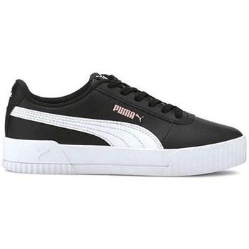 kengät Lapset Matalavartiset tennarit Puma Carina L JR Valkoiset,Mustat