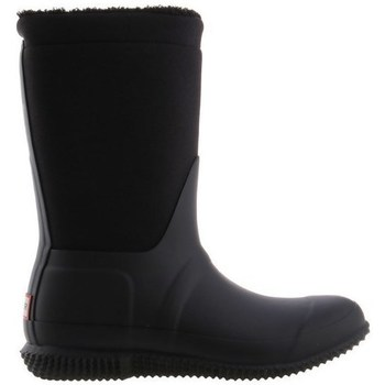 kengät Naiset Kumisaappaat Hunter Original Insulated Roll Top Sherpa Boots Mustat