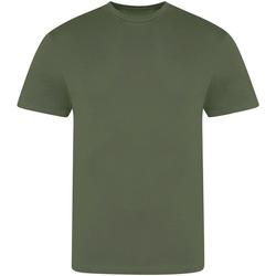 vaatteet Miehet Lyhythihainen t-paita Awdis JT100 Earthy Green