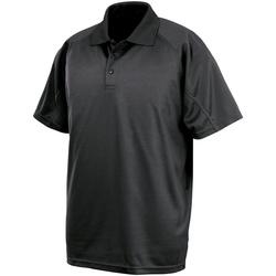 vaatteet Lyhythihainen poolopaita Spiro SR288 Black