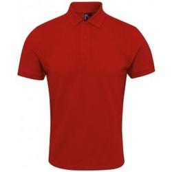 vaatteet Miehet Lyhythihainen poolopaita Premier PR630 Red